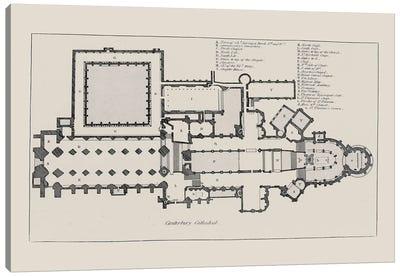 Canterbury Cathedral Floorplan Canvas Art Print