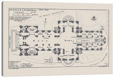 St Paul's Cathedral Floorplan Canvas Art Print