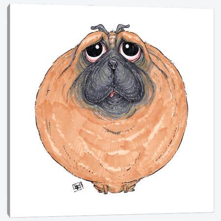 Pug Canvas Print #BIF108} by Billi French Canvas Art