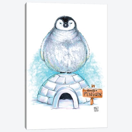 Baby Penguin Canvas Print #BIF10} by Billi French Canvas Artwork