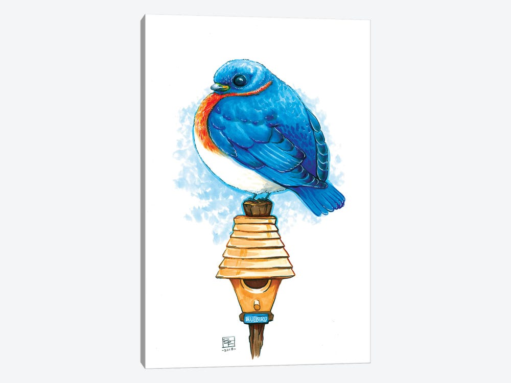 Bluebird by Billi French 1-piece Canvas Wall Art