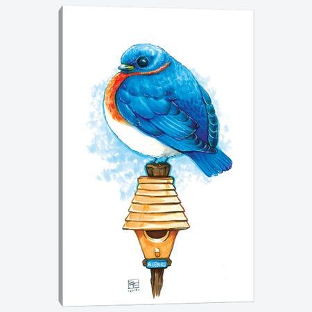 Bluebird Canvas Print #BIF12} by Billi French Canvas Artwork