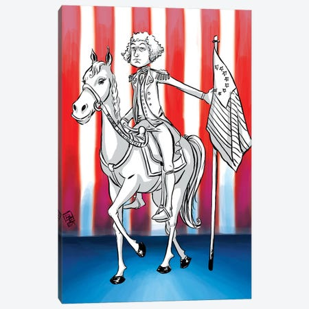 George Washington Canvas Print #BIF21} by Billi French Art Print