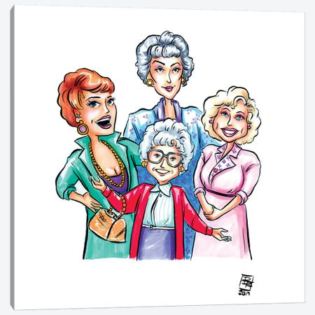 Golden Girls Canvas Print #BIF23} by Billi French Canvas Art Print