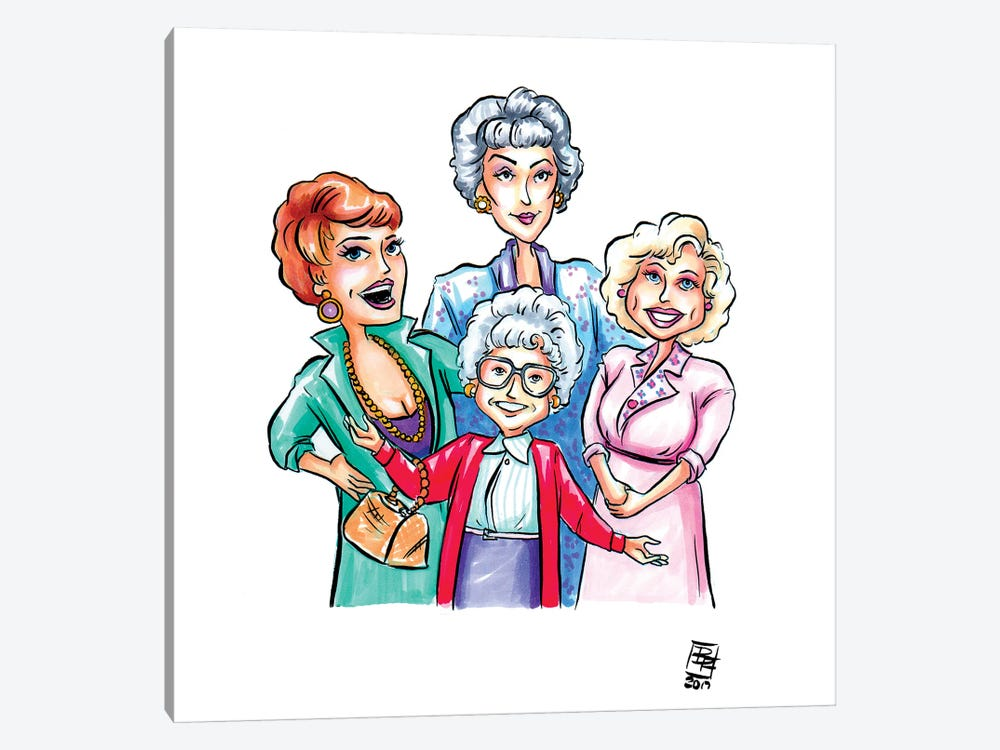 Golden Girls 1-piece Canvas Artwork