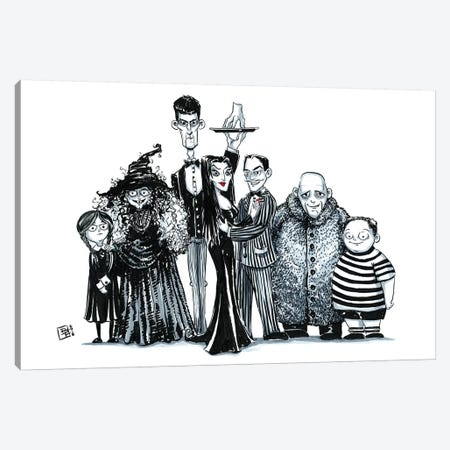 Gothic Family Canvas Print #BIF24} by Billi French Canvas Art