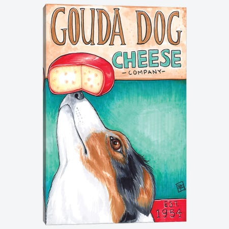 Gouda Dog Company Canvas Print #BIF26} by Billi French Canvas Art