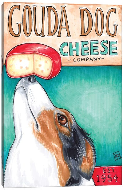Gouda Dog Company Canvas Art Print