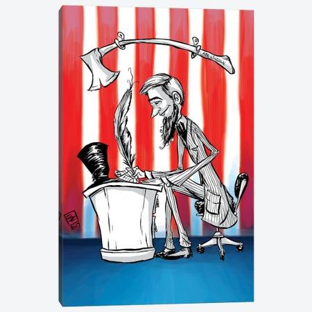 Abe Lincoln Canvas Print #BIF2} by Billi French Canvas Print