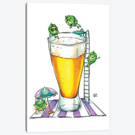 Hoppy Summer Canvas Print #BIF30} by Billi French Canvas Artwork
