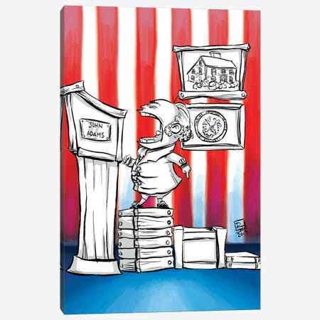 John Adams Canvas Print #BIF32} by Billi French Canvas Wall Art