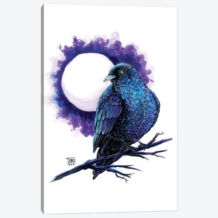 Raven Canvas Print #BIF35} by Billi French Canvas Print