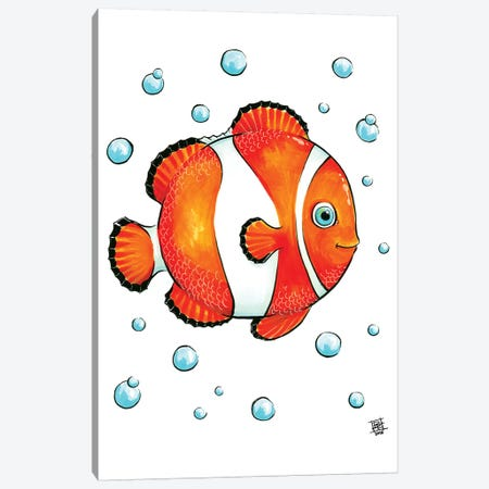 Sea Creature Clown Fish Canvas Print #BIF36} by Billi French Canvas Art Print