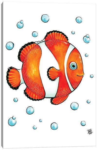 Sea Creature Clown Fish Canvas Art Print