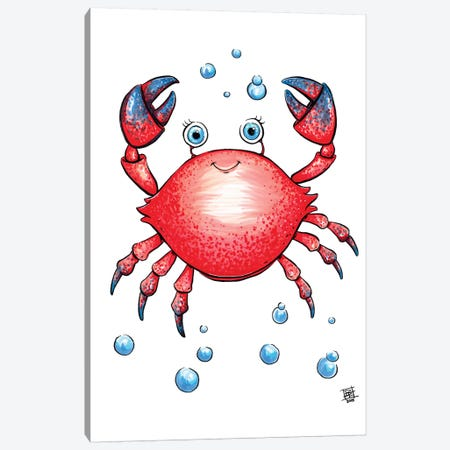Sea Creature Crab 3-Piece Canvas #BIF37} by Billi French Canvas Art Print