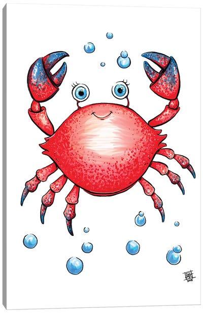 Sea Creature Crab Canvas Art Print
