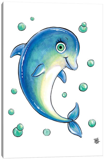 Sea Creature Dolphin Canvas Art Print