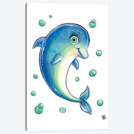 Sea Creature Dolphin Canvas Print #BIF38} by Billi French Canvas Wall Art