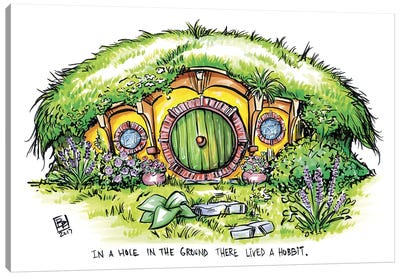 A Hole In The Ground Canvas Art Print