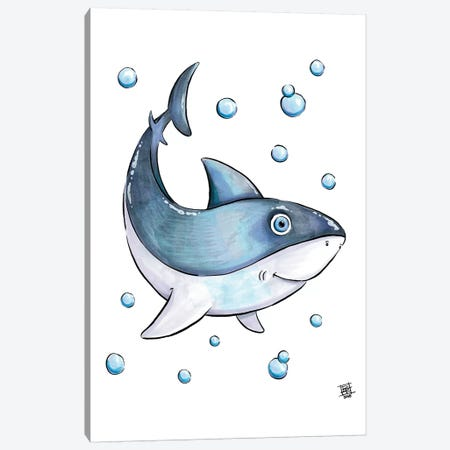 Sea Creature Shark 3-Piece Canvas #BIF42} by Billi French Canvas Art Print