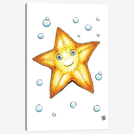 Sea Creature Starfish 3-Piece Canvas #BIF43} by Billi French Art Print