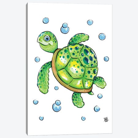 Sea Creature Turtle Canvas Print #BIF44} by Billi French Canvas Wall Art