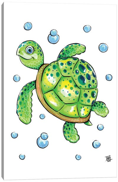 Sea Creature Turtle Canvas Art Print