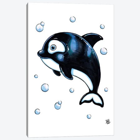 Sea Creature Whale Canvas Print #BIF45} by Billi French Canvas Art