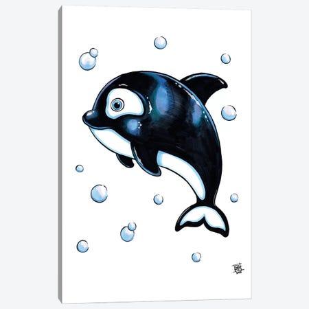 Sea Creature Whale Canvas Print #BIF45} by Billi French Canvas Art