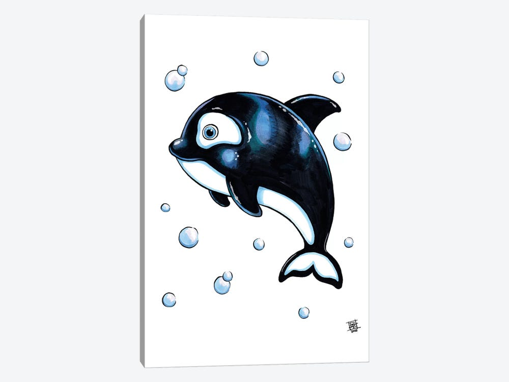 Sea Creature Whale by Billi French 1-piece Canvas Wall Art