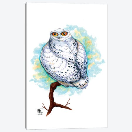 SnowOwl Canvas Print #BIF47} by Billi French Canvas Artwork
