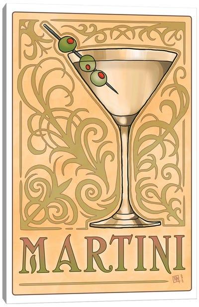 Vintage Martini Canvas Art Print