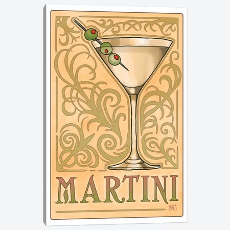 Vintage Martini Canvas Print #BIF59} by Billi French Canvas Art