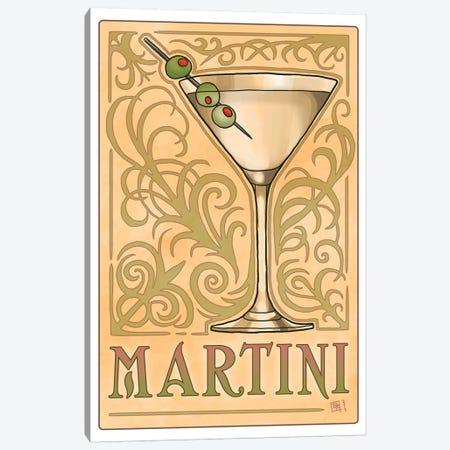 Vintage Martini Canvas Print #BIF59} by Billi French Canvas Art