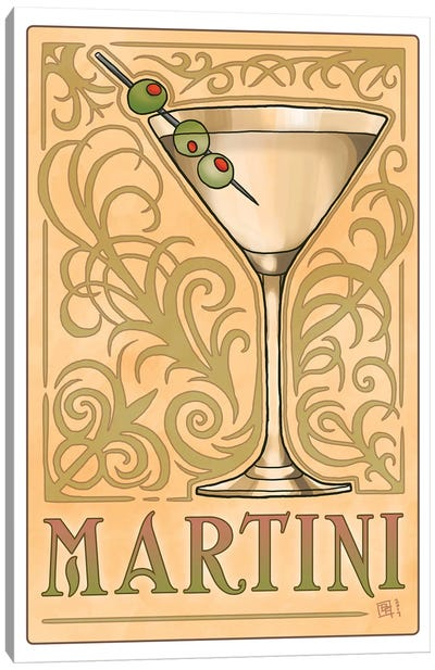 Vintage Martini Canvas Art Print