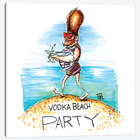 Vodka Beach Party Canvas Print #BIF60} by Billi French Art Print