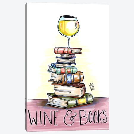 Wine And Books Canvas Print #BIF61} by Billi French Canvas Art Print