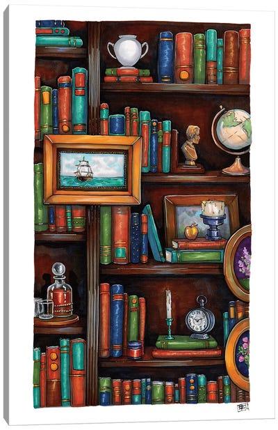 Cozy Little Library Canvas Art Print
