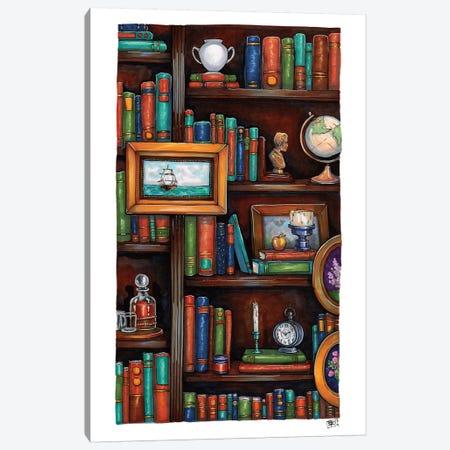 Cozy Little Library Canvas Print #BIF63} by Billi French Art Print
