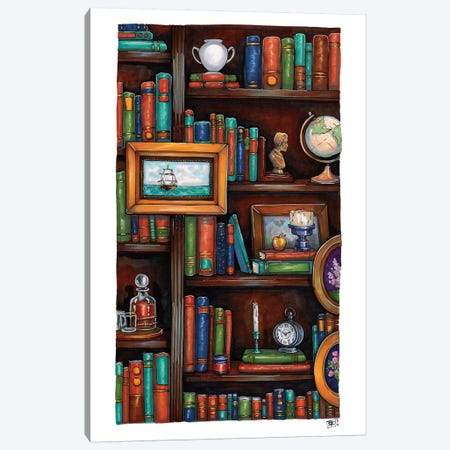 Cozy Little Library Canvas Print #BIF63} by Billi French Art Print