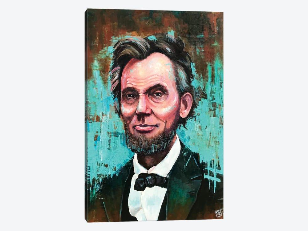 Honest Abe Portrait by Billi French 1-piece Canvas Print