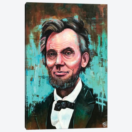 Honest Abe Portrait Canvas Print #BIF64} by Billi French Canvas Wall Art