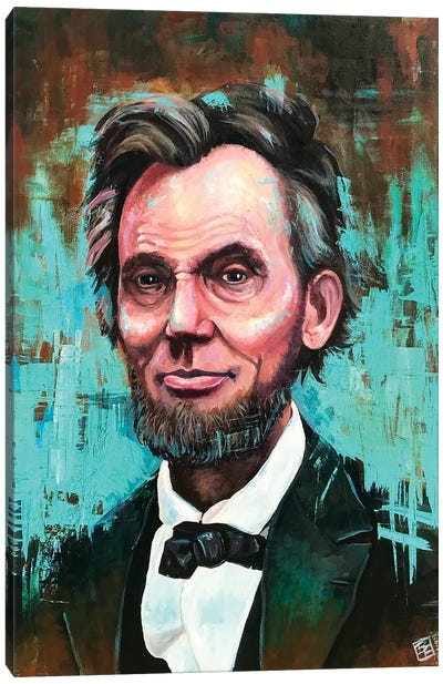 Honest Abe Portrait Canvas Art Print