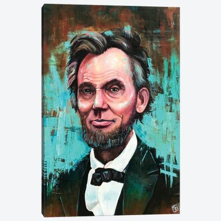 Honest Abe Portrait Canvas Print #BIF64} by Billi French Canvas Wall Art