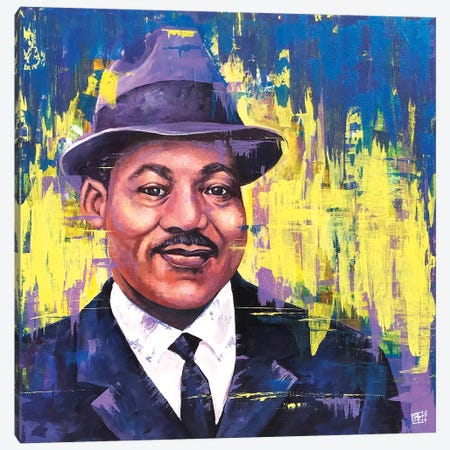 M.L.K. Portrait Canvas Print #BIF65} by Billi French Canvas Art