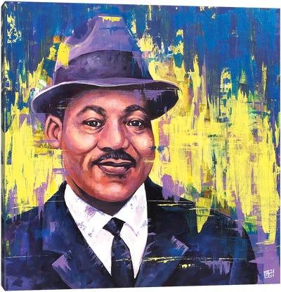 M.L.K. Portrait Canvas Art Print