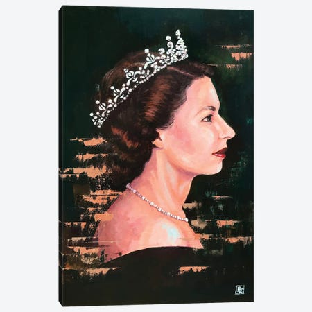 God Save The Queen 3-Piece Canvas #BIF67} by Billi French Canvas Art