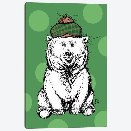 Adorable Fuzzy Bear With A Cute Hat Canvas Print #BIF69} by Billi French Canvas Print