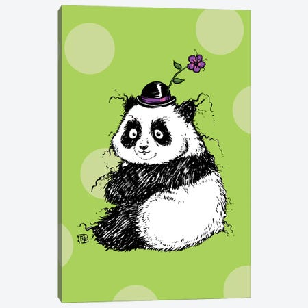 Plump Little Panda With An Adorable Hat Canvas Print #BIF73} by Billi French Canvas Artwork