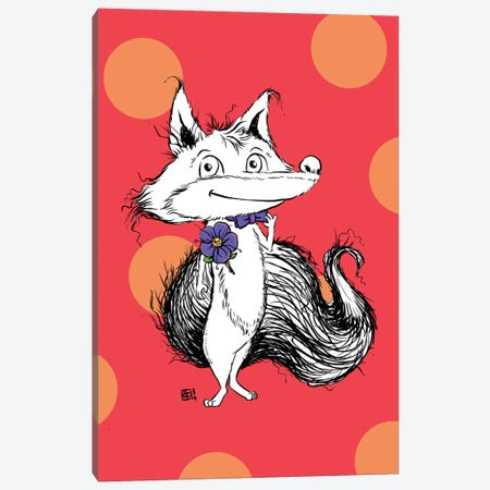 A Dapper Little Fox With A Fancy Bow Tie And Boutonniere Canvas Print #BIF80} by Billi French Canvas Art Print
